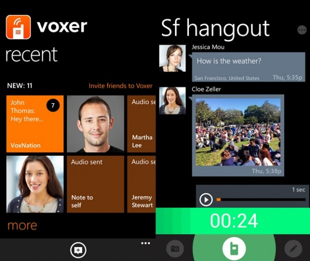 Voxer Windows Phone app