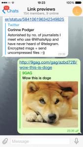 telegram link preview