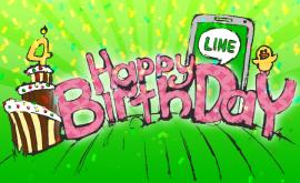 Line birthday 4 years