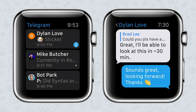 NEW TELEGRAM FOR APPLE WATCH