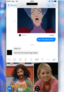 FACEBOOK MESSENGER TESTS GIF SHARING