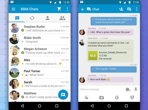 FUNCTIONALITIES IN BLACKBERRY MESSENGER