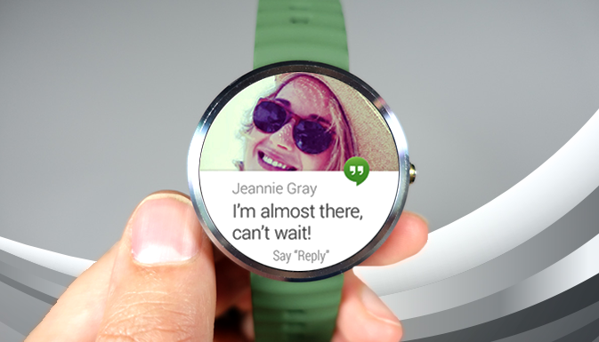 Hangouts voice message with Android Wear!