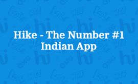 Hike acknowledged India's most loved messaging app