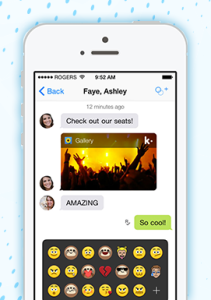 Images and video can be saved from Kik's chat window