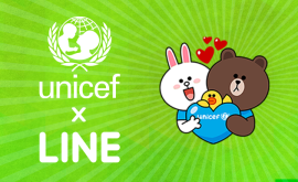 LINE COOPERATING WITH UNICEF