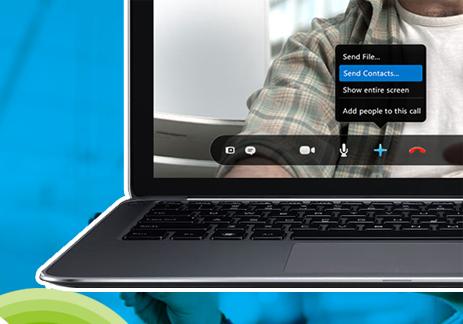 Skype contact info sharing