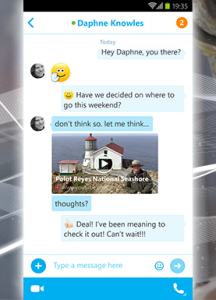 Skype web links preview in chats