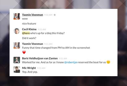 Slack messaging app tags