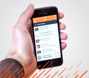Take a video and share it through iOS version of Voxer