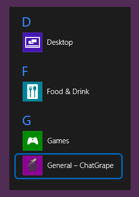 ChatGrape icon on the Windows task bar