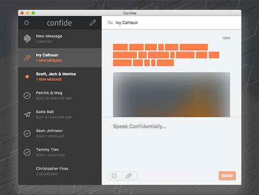 Confide on your desktop
