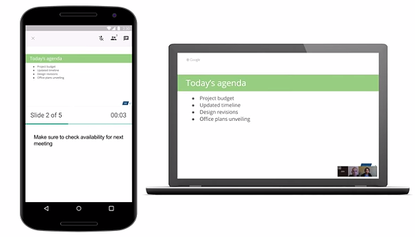 Google lets users broadcast slide presentations during Hangouts video calls