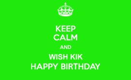 Happy Birthday KIK!