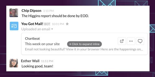 Is Slack integrating e-mail?