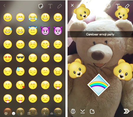 New emoji settings in Snapchat