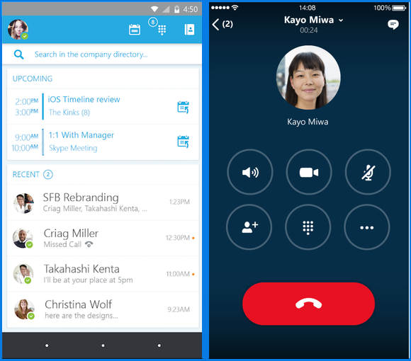 Skype for Business previews for Android and iOS announced