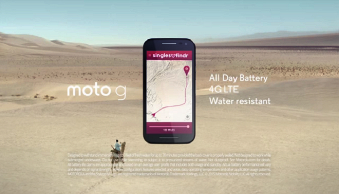 Tinder doppelganger makes appearance in Moto G's first commercial