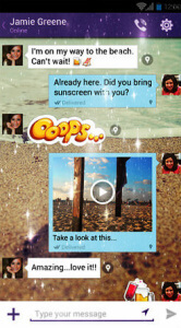 Viber lets users share contacts and send out public chat invites