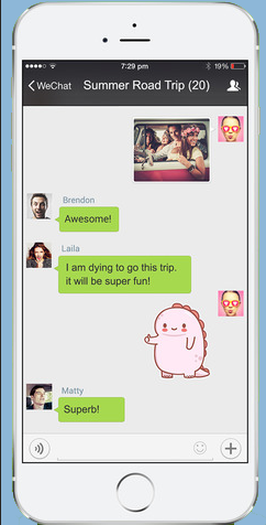 WeChat is both for hotel and for the guests