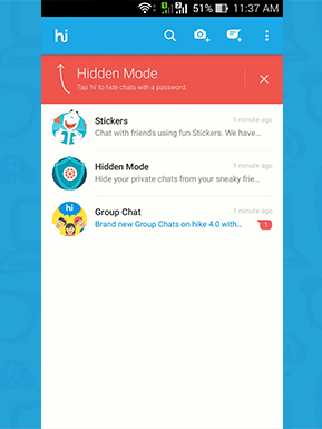 Hike update allows group calls for to people