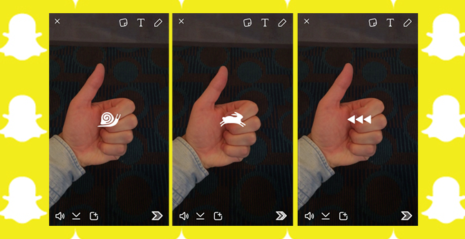 SNAPCHAT: MANAGE VIDEO PLAYING SPEED WITH NEW VIDEO EFFECTS!