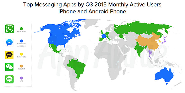 COUNTRIES' FAVOURITE MESSENGERS ANNOUNCED