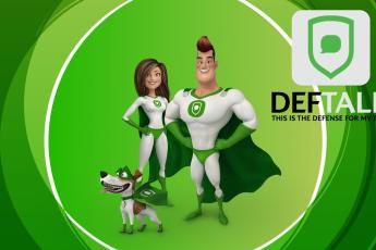 Deftalk logo