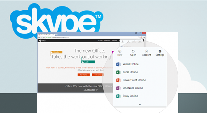 COMMUNICATE VIA SKYPE RIGHT FROM MS OFFICE DOCUMENTS