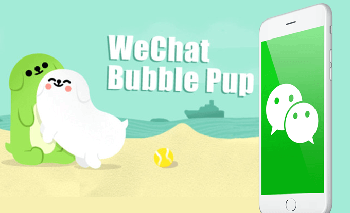 Bubble Pup Stickers Make WeChat Comeback